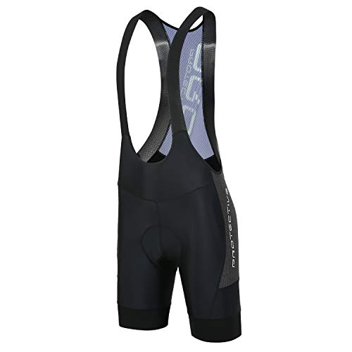 Protective Padded Bike Shorts for Men, Ergonomic bib Shorts for Cycling/MTB - black - Large