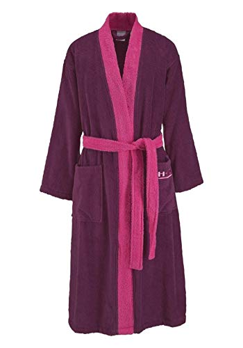 HIS Damen Herren Bademantel Fuchsia XS