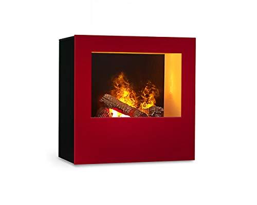 Magma infraroodhaard (rood/zwart), verwarmbare elektrische kachel met Optimyst vlamsimulatie