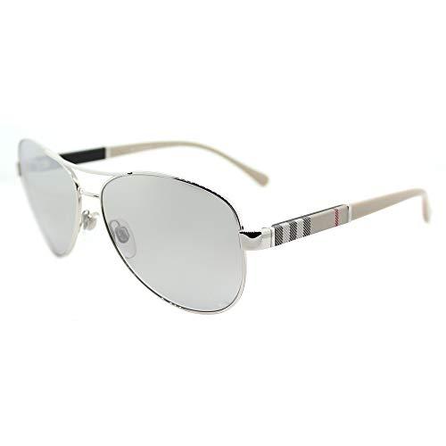 Burberry Unisex 0BE3080 Silver/Light Grey Silver Mirror