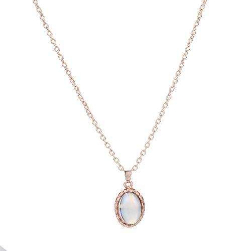 ZHDXW Conjuntos de joyería de color oro rosa colgante collares anillo pendientes conjunto joyería de boda collar pendientes pulsera conjunto mejor regalo para mujeres
