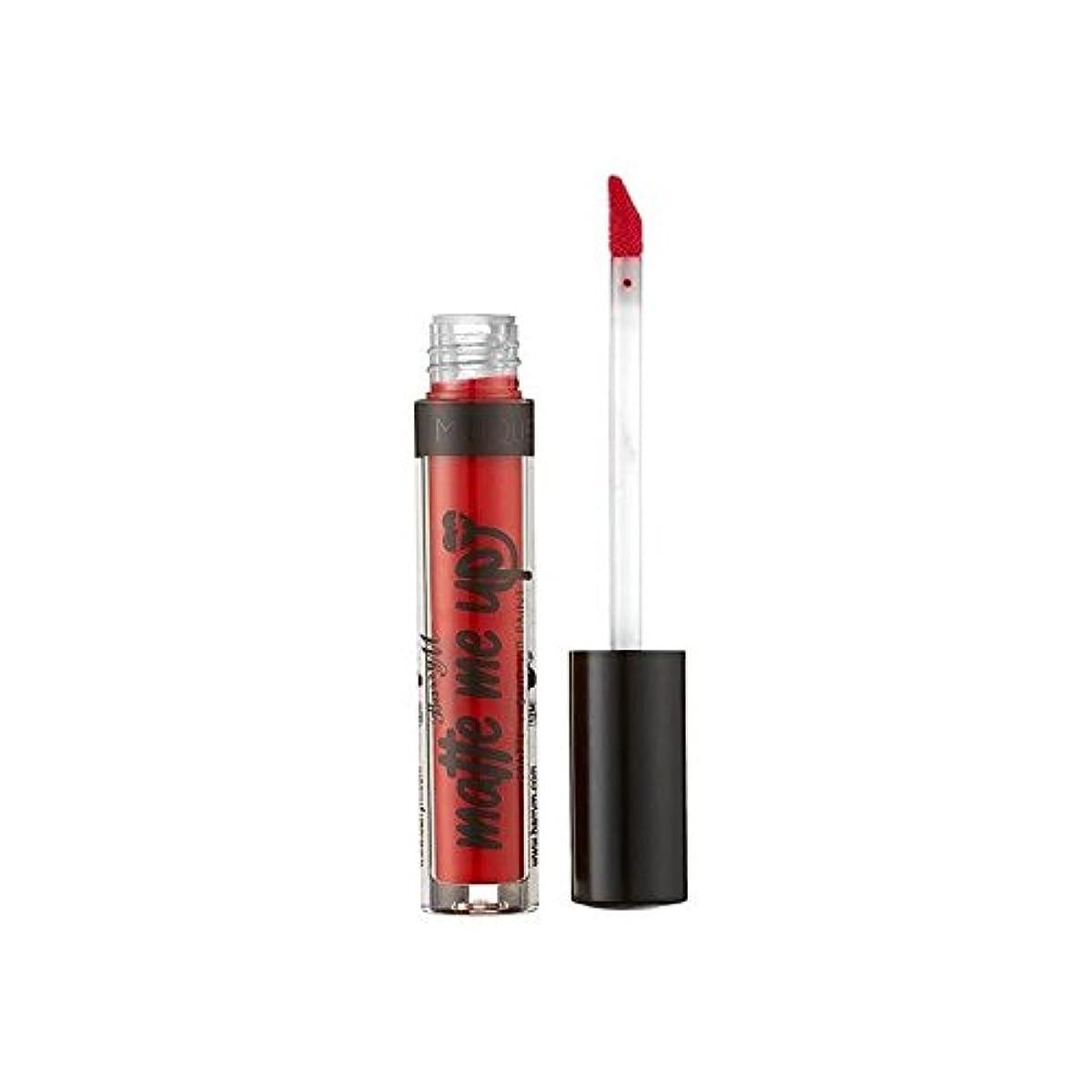 エゴマニアリスナー痛みBarry M Matte Me Up Liquid Lip Paint -Paparazzi Red - バリーは液体リップペイントを私をマット赤- [並行輸入品]