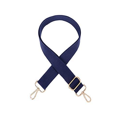 Umily Métal de couleur Or 3.8cm large sangle Cross-Body Remplacement Toile sac à main sangle Crossbody pour les femmes Sangle réglable 80-140cm