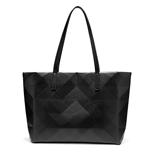 LOVEVOOK Tote Bag for Women Fashion Matte Geometric Leather Shoulder Bag Classic Stylish Purses and Handbags