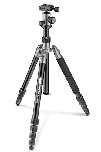 Manfrotto Element Traveller Small Aluminum 5-Section Tripod Kit with Ball Head, Element Large 64.6
