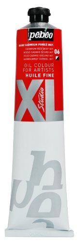 Pébéo - Olio fine XL 200 ML - Pittura ad Olio Rosso cadmio Scuro Imitazione - Pittura ad Olio Pébéo - Imitazione Rosso cadmio Scuro 200 ml