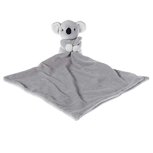 Apricot Lamb Stuffed Animals Security Blanket Gray Koala Infant Nursery Character Blanket Luxury Snuggler Plush Gray Koala 14 Inches
