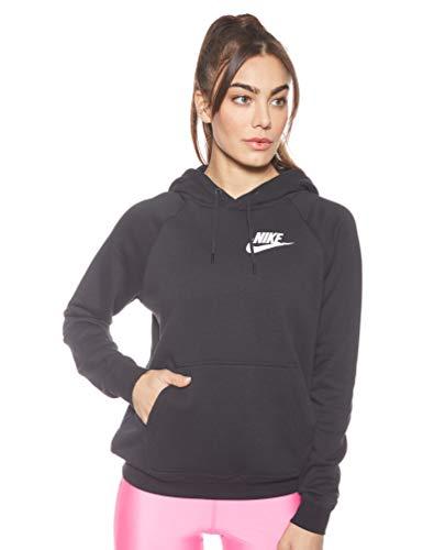 Nike Damen Hoodie Sportswear Rally, Black/Black/White, XL, AJ6315-010