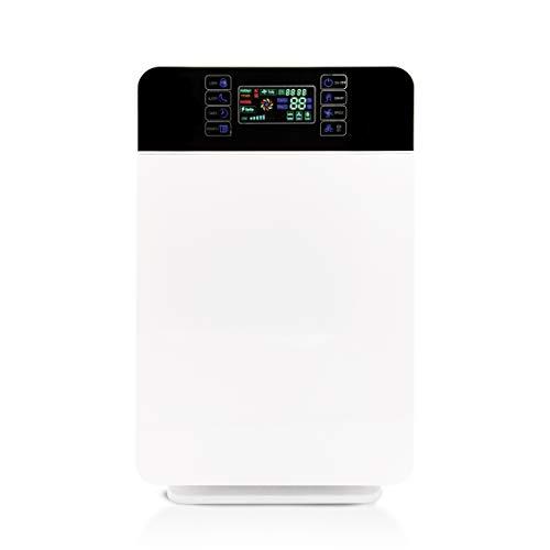 Mediashop Livington AirPurifier | Luftreiniger bis zu 30m2 | 6-Filter-System | zuschaltbar: UV- und IONEN-Filter | Automatik-Funktion | 3 Stufen | Timer | entfernt 99% Aller Partikel | Das Original