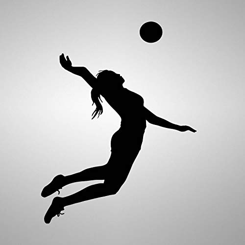 yaonuli Volleyball Wandtattoo Schlafzimmer Tapete Ball Sport Wandbild Aufkleber Kinderzimmer Dekoration 42X60cm