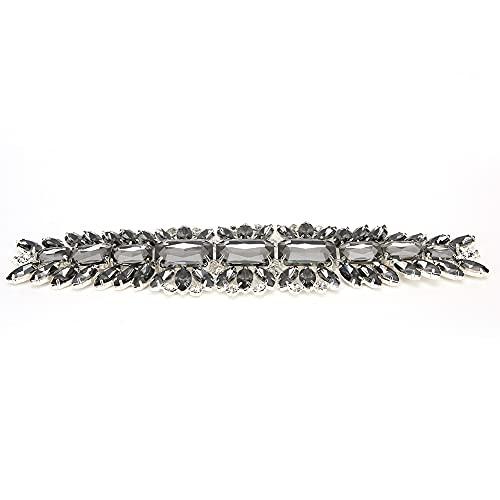 Adornos de apliques de diamantes de imitación de cristal para cinturón de...