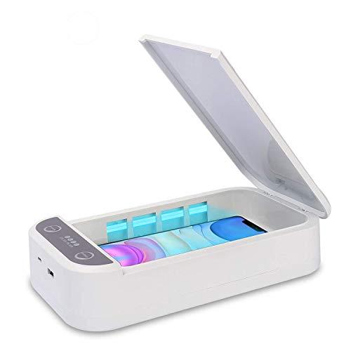 UV sterilisator desinfektion,Tragbarer UV Lampe Handy phone Sanitizer Cleaner Box,UV Licht Desinfektionsgerät Aromatherapie Funktionsdesinfektor für iPhone Android Handy Bluetooth Ohrhörer Watches