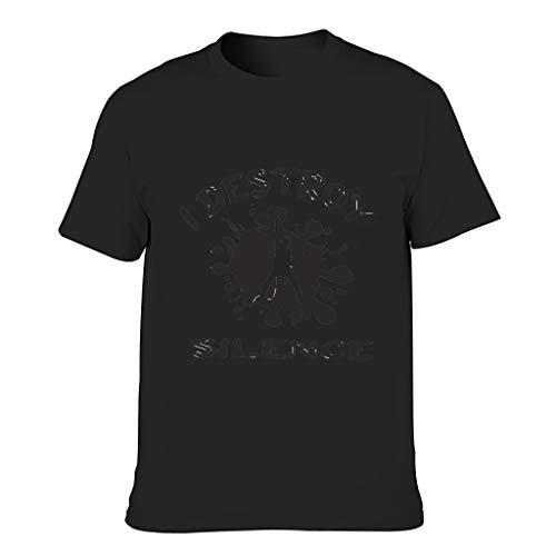 Camiseta Hombre Algodón I Destroy Silence Fashion Crew Neck