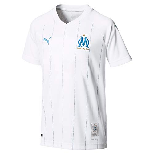 Puma OM HOME Replica SS WITH sponsor Maillot Garçon Puma White FR : Taille Unique (Taille Fabricant : Taille Unique)