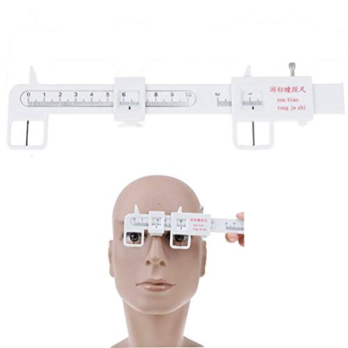 Qingsi 1 Pack PD Ruler Optical Vernier Pupilary Ruler Distance Meter Eye Ophthalmic Tool Straight Edge PD Ruler