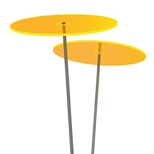 Cazador-del-sol ® Medio | Duo | 2 Stück Sonnenfänger-Scheiben gelb 1,20 Meter hoch - das Original
