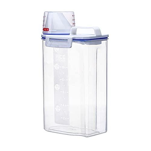 Dispensador de comida de cocina Cocina Caja de almacenamiento de escala transparente Caja de almacenamiento sellada a prueba de humedad Almacenamiento de alimentos para mascotas Organizador de cocina