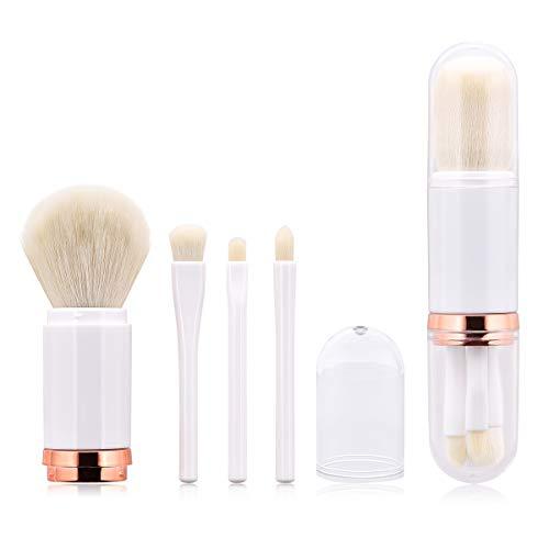 Ponacat 4-In-1-Make-Up-Pinsel-Set Einziehbares Make-Up-Pinsel-Set mit Deckel Kosmetische...