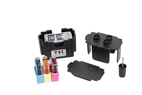 Kit DE FÁCIL Recarga para Cartuchos de Tinta Canon 37, 38 Negro y Color, Tinta Incluye Clip y Accesorios