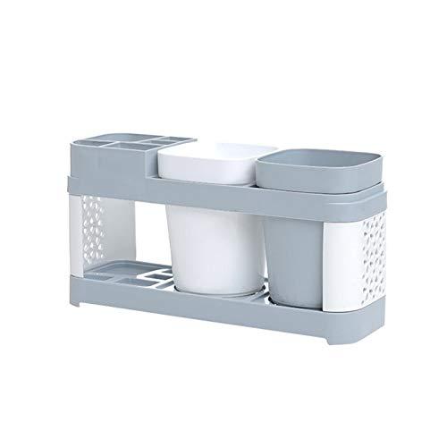 Estantería Colgante Estante flotante Soporte de cepillo de dientes Soporte de plástico Copa de plástico Estante Baño de dientes Pasta de dientes Rack Rack Caja de dientes Caja de cepillo de dientes He