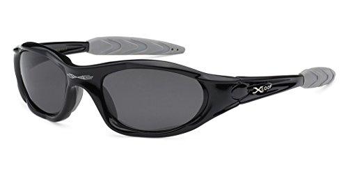 X-loop Polarized Mens Action Sports Fishing Sunglasses - Several Colors, Black, Medium