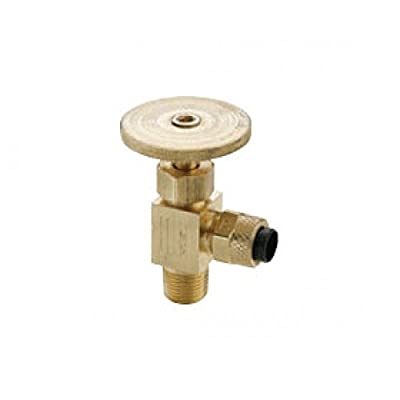 "Parker Hannifin NV312P-4-2 Poly-Tite Brass Angle Needle Valve Fitting, 90 Degree Angle, 1/4"" x 1/8"" Male Thread from Parker Hannifin Corporation"