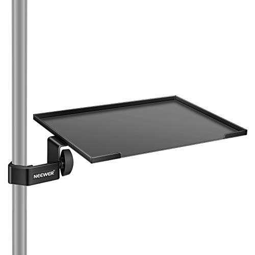 Neewer Clamp-On Rack Tray Holder, Microphone Stand Shelf, 7.9x11.8inch/20x30cm Surface Area with Maximum 3.3 pounds/1.5kg Load Capacity for Music Sheet, Accessory (Stand NOT Included)