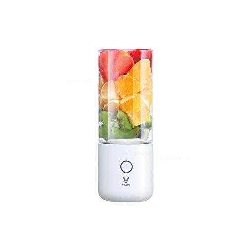 Licuadora Batidora de cocina eléctrica Exprimidor Taza de frutas Mini procesador de alimentos portátil pequeño 45 segundos de jugo rápido, Blanco
