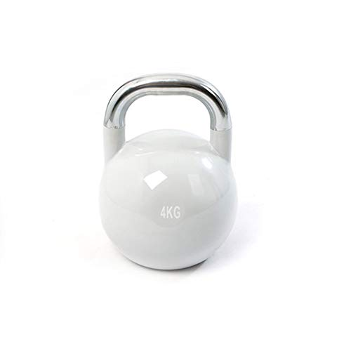 CCONE Kettlebell Fitness Iron Weights with Neoprene Coating Around The Bottom Half of The Metal Kettle Bell 4 6 8 10 12kg A 4kg
