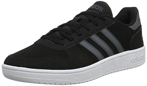 adidas Hoops 2.0, Zapatos de Baloncesto para Hombre, Negro (Core Black/Grey Six/FTWR White Core Black/Grey Six/FTWR White), 40 EU