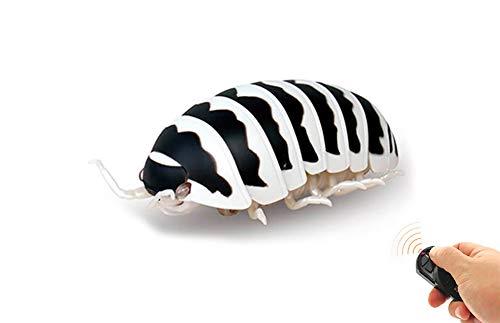 RC TECNIC Bicho Bola Insecto Teledirigido con Mando Control Remoto | Cucarachas de Broma Juguetes para Niños (Negro)