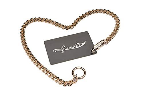 Sabrage Card - Tessera per sciabolare Champagne - La Sciabolata Assistita, il kit Card + Chain: potrai sciabolare senza che il tappo decolli senza controllo!