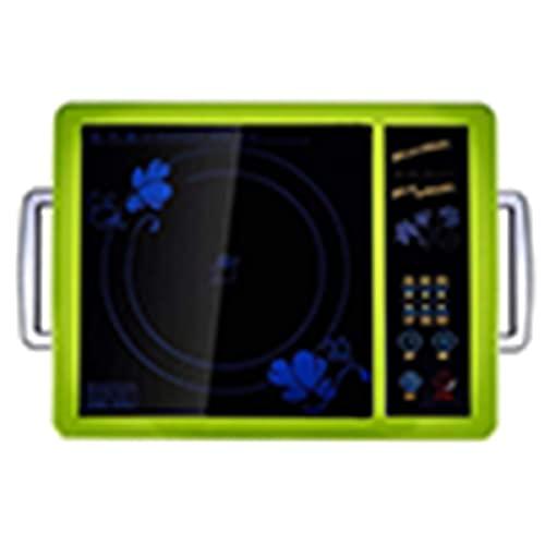 Portátil eléctrica Placa de inducción Estufa eléctrica de calefacción, estufa de cerámica eléctrica de alta potencia inteligente adecuada para cualquier olla que pueda usar una cocina de inducción