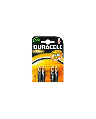 Duracell MN2400KC/4 Household Battery Single-use Battery AAA Alkali 1,5 V - Batterien (Single-use Battery, AAA, Alkali, Zylindrische, 1,5 V, 4 Stück(e))
