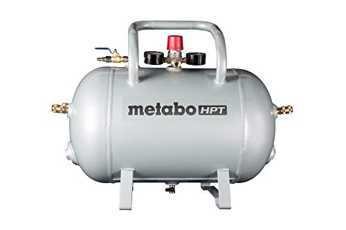 Metabo HPT Reserve Air Tank | Five Quick Connect Couplers | 10-Gallon Capacity | ASME Certified | UA3810AB