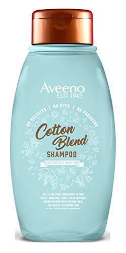 Price comparison product image Aveeno Cotton Blend Sulfate-Free Shampoo for Light Moisture & Soothed Scalp,  Gentle Cleansing Shampoo with Nourishing Oat,  Paraben- & Dye-Free,  12 fl. oz