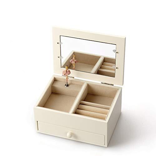 ZRJ Bonita caja de música de madera con marco de fotos para bailar ballet, para Navidad, boda, cumpleaños, moda