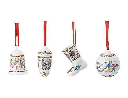 Glocke + Zapfen + Stiefel + Kugel 2021 Weihnachtsgaben - Hutschenreuther - Porzellan Weihnachten