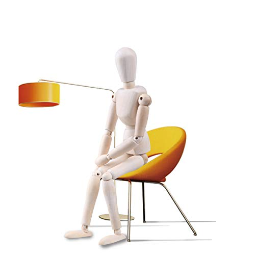 Moi Doi Wooden Mannequin, Wood Manikin with Stand, Artist Human Figure Articulated Model,Great for Drawing/Sketch or Desktop Decor,12 Inch Tall