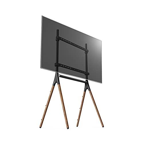 Soporte de TV Piso de TV Soporte de madera creativa soporte de soporte de TV móvil para 49 'a 70' Televisores Televisores Roburía Base de madera Universal TV TV Soportes con cuerda de seguridad Montaj