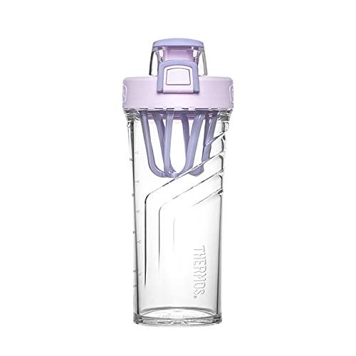 Protein Shaker Botella de fugas Clase a prueba de fugas Gimnasio Portátil Aguadora Botella de agua BPA Línea de plástico para deportes Copa de la taza de la mayoría de las tazas, sin mezcla de bola o
