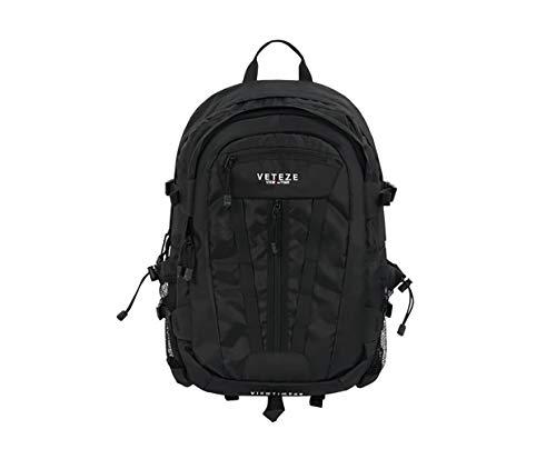 【VETEZE】ベテゼ マルチ クロス バックパックVETEZE Multi Cross Backpack 通学用 新学期にぴったり! 可愛い リュックサック (ブラック) [並行輸入品]
