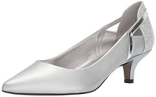 Easy Street Women's Fancy Pump, Silver Salt/Patent, 8 M US