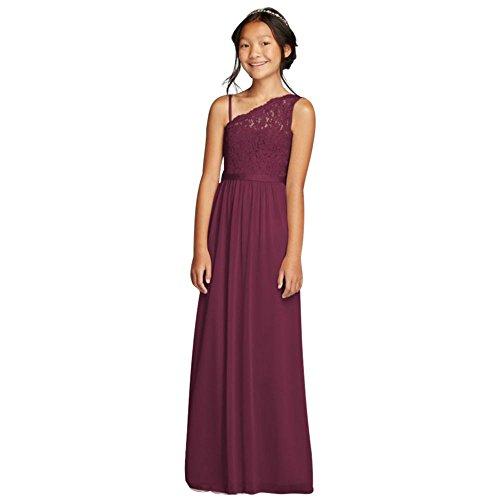 wine red girl dresses - 2