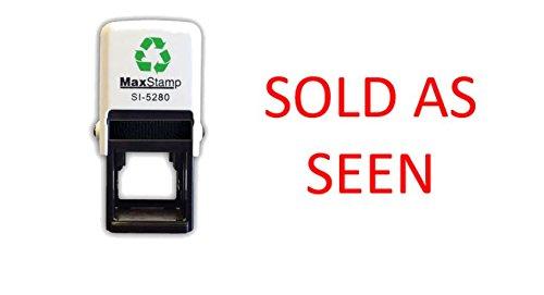 Verkauft als gesehen–selbstfärbender Stempel–Rot Tinte–28x 28mm