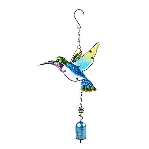 LA GUAPA Windspiele Kolibri hängende Ornamente Äolische Glocke Windspiel Garten Dekor
