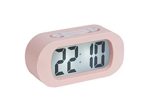 Karlsson - Uhr, Wecker Gummy - Silikon - rosa - H7 x B14 x T5 cm