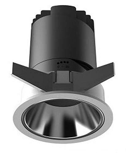 BANNAB Downlight, Downlight Ajustable Integrado Sin Bordes Antideslumbrante Proyector Profundo Aluminio Reproducción cromática Alta, Adecuado para Salas de Estar de hoteles