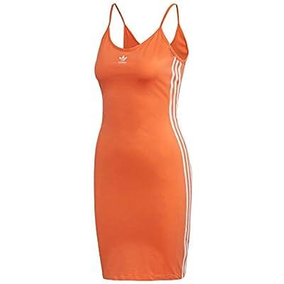 adidas Originals Women's Spaghetti Strap Dress Semi Coral/White Small