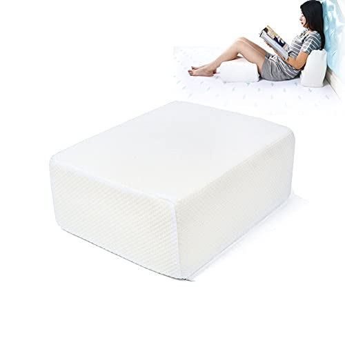 1/2PCS Cube Memory Foam Pillow For Side Sleepers , Cube Pillows For Side Sleepers, Cervical Pillow For Neck Pain, Coach Pillow, Travel Pillow, Pillowcase Removeable and Washable, White (C)